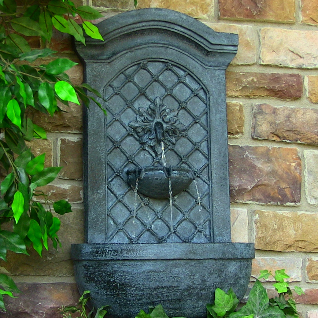Rosette Leaf Outdoor Wall Fountain
