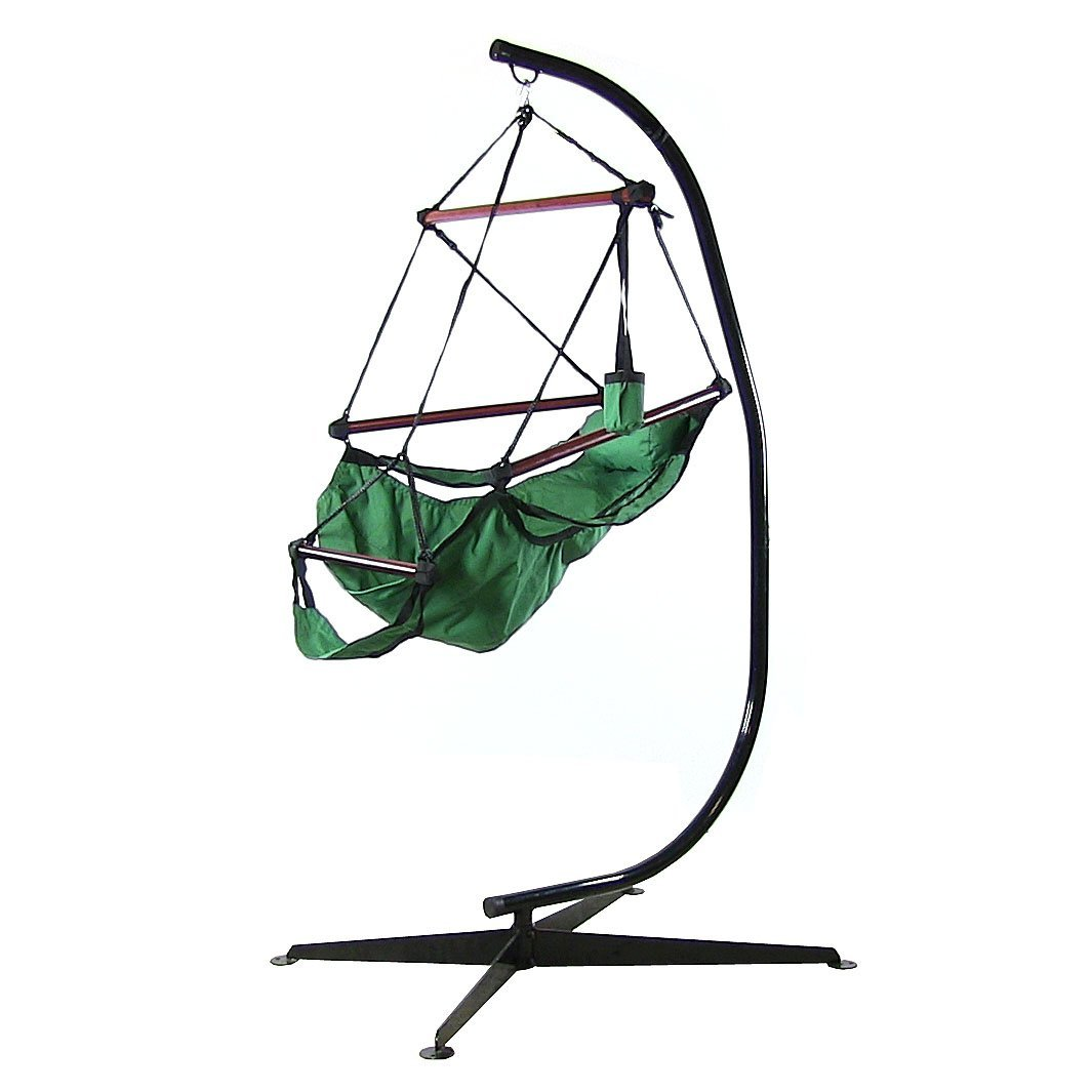 Sunnydaze Hanging Hammock Chair W Pillow Drink Holder Stand Combo  Picture 485