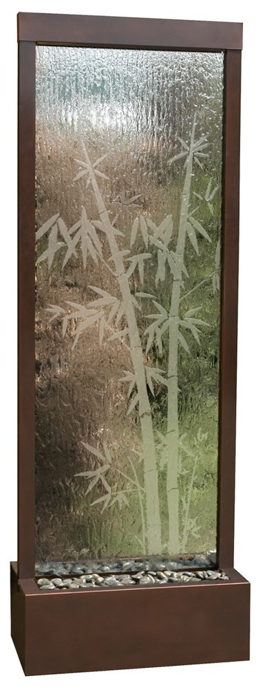 Bluworld Bamboo Etched Glass Gardenfall Fountain Foot Picture 2