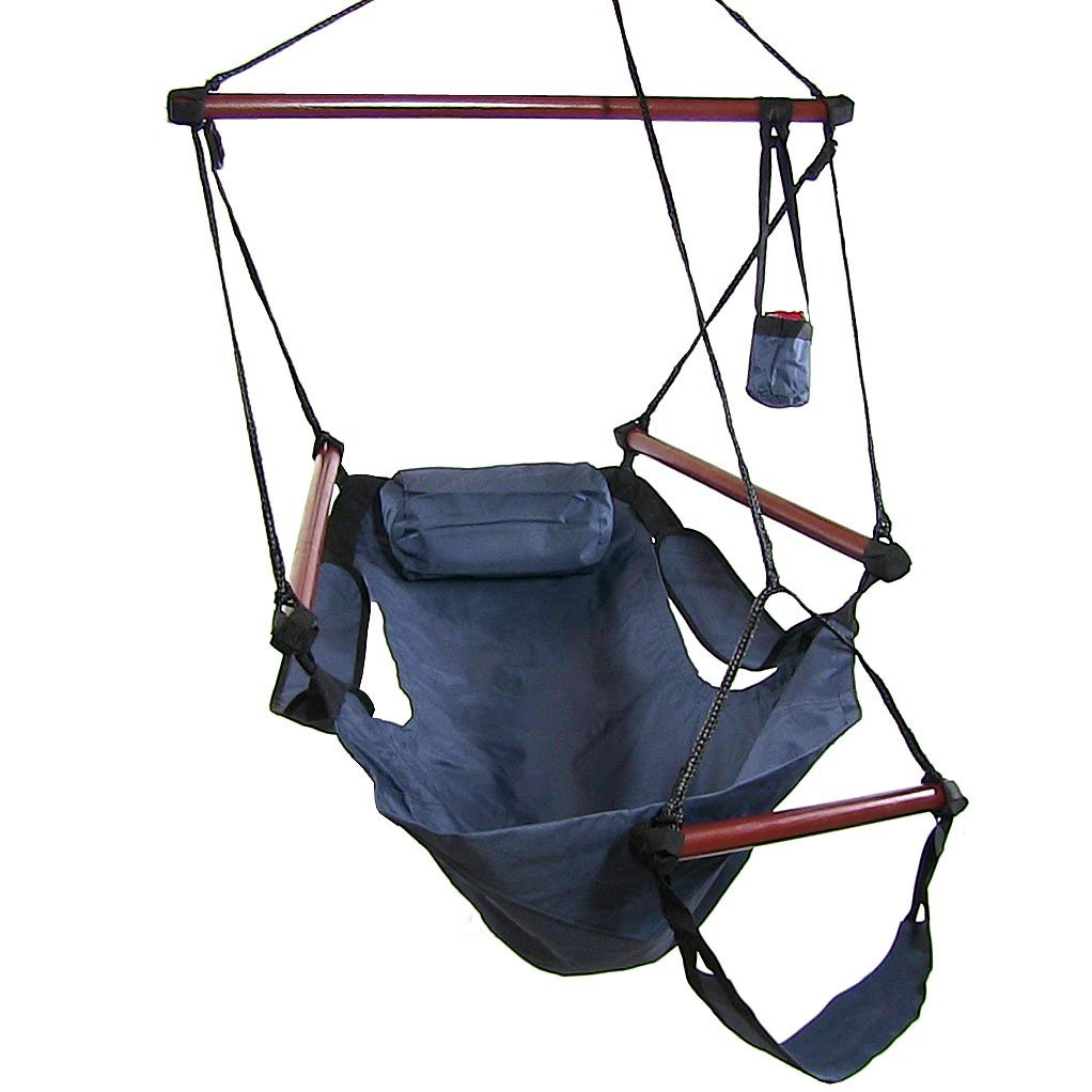 Hanging hammock chair w accessories or hammock stand for Hammock chair stand plans
