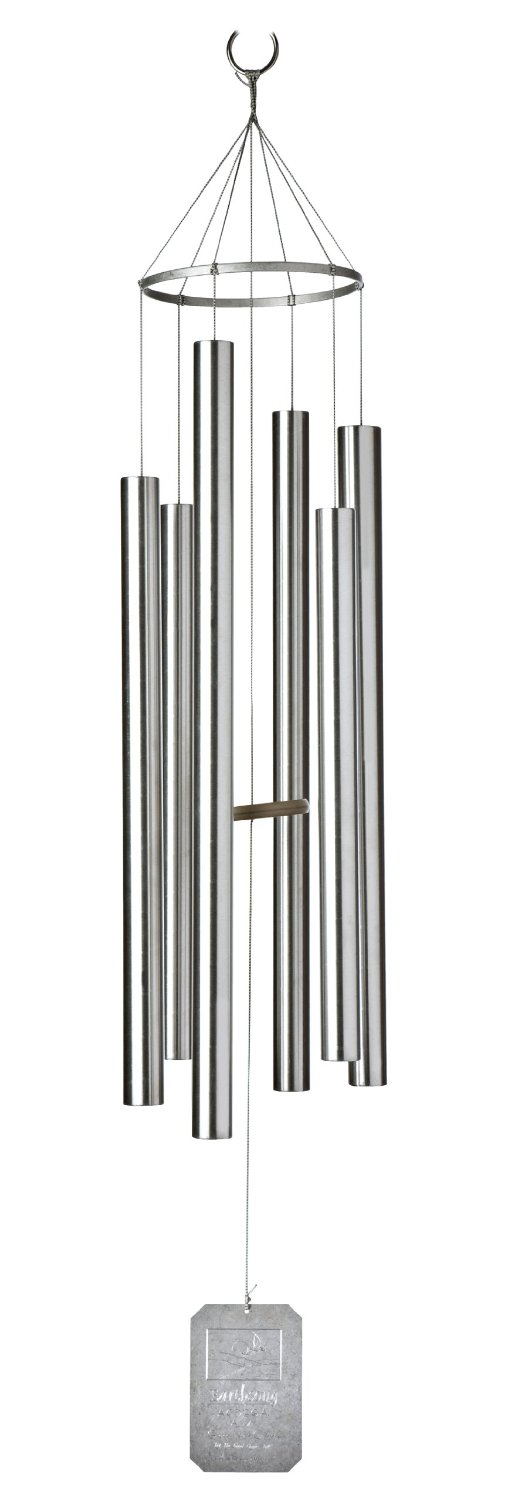 Grace Note Chimes L Inch Island Melody Wind Chimes Large Silver Photo