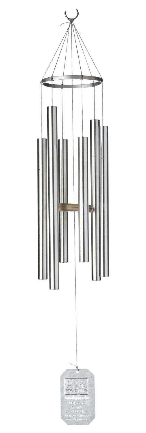 Grace Note Chimes PT Earthsong Wind Chimes Inch Silver Picture 716