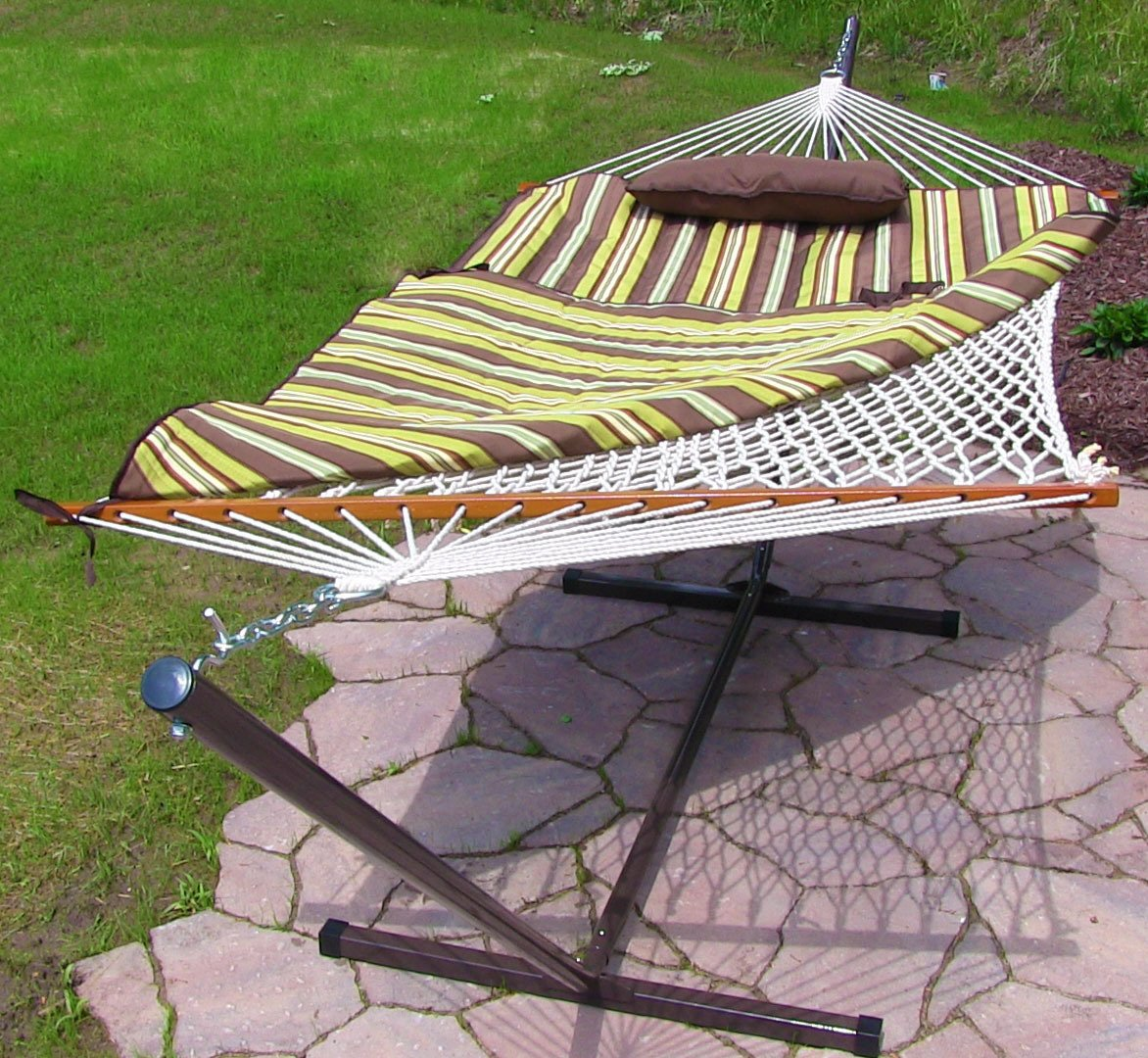 Desert Strip Rope Hammock and Stand