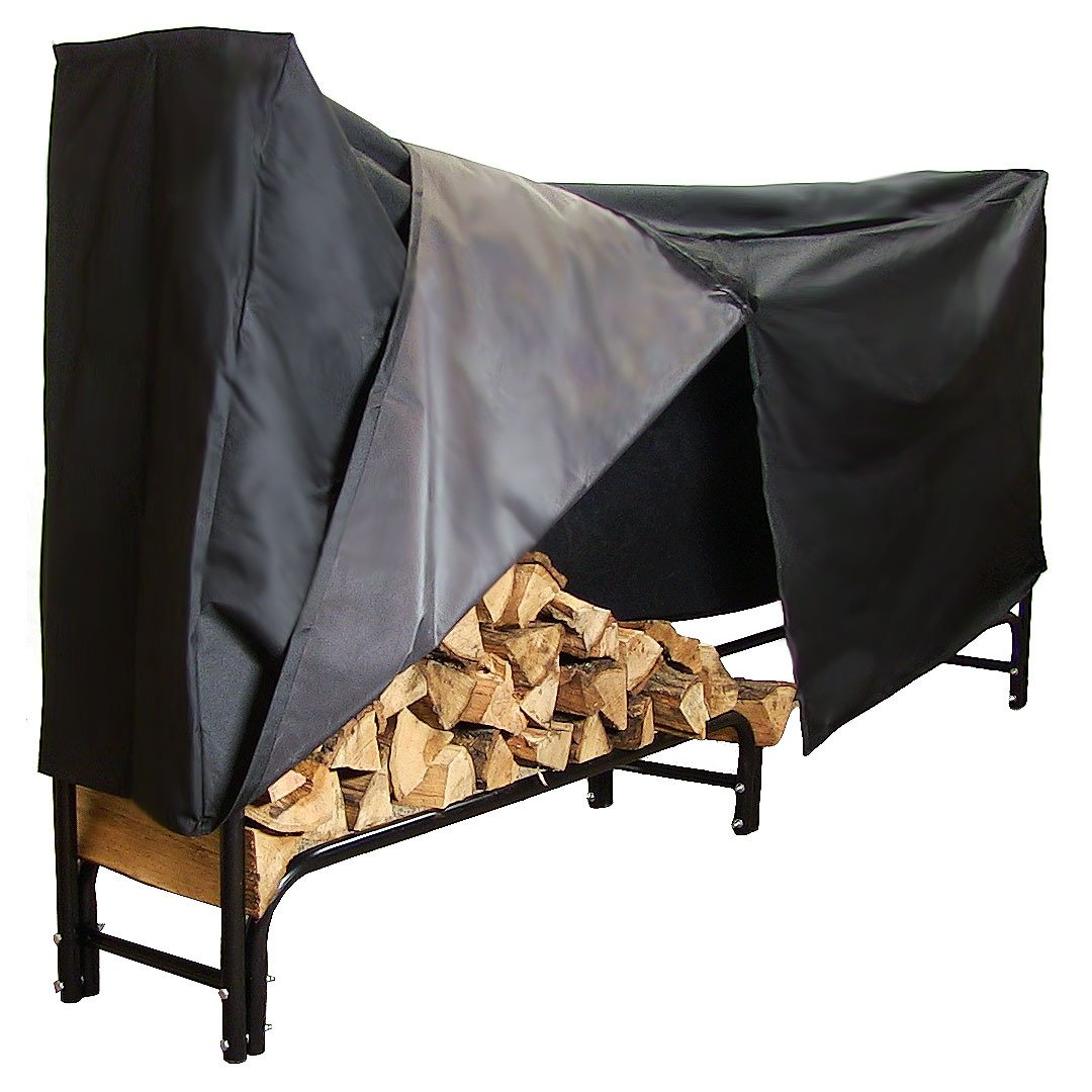 Black Steel 8 Foot Firewood Log Rack