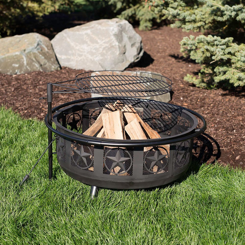 All Star Fire Pit with Swiveling Adjustable Cooking Grate