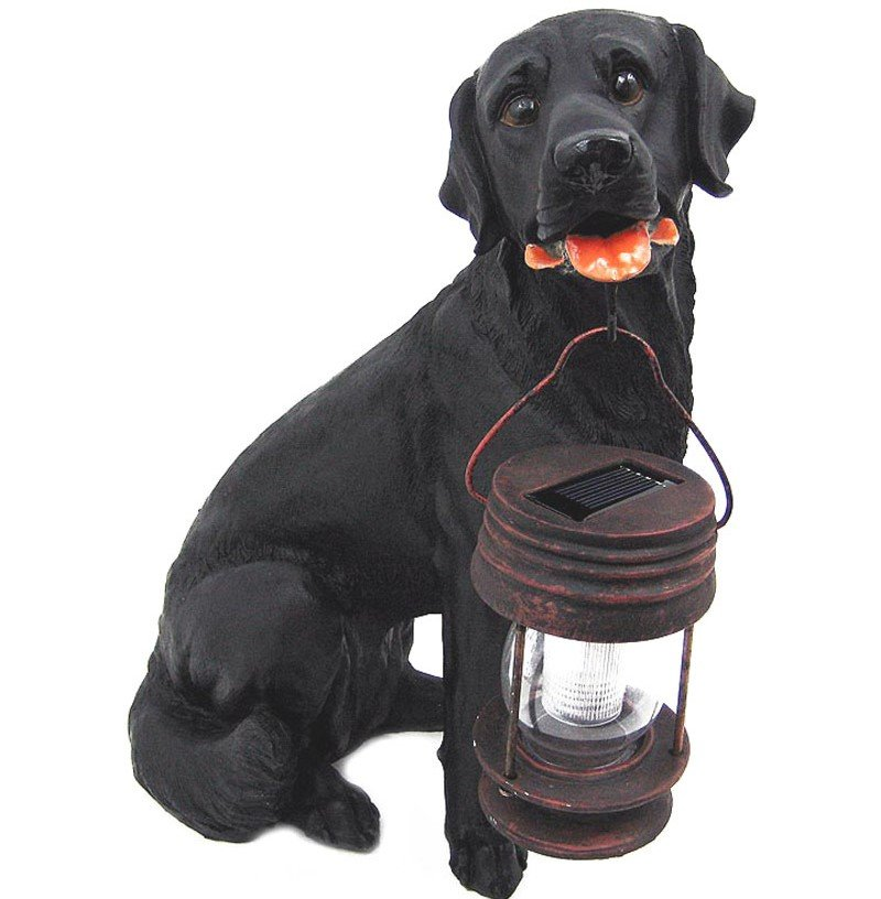 Black Lab Solar Light