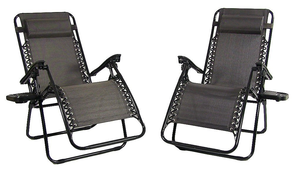 Oversized Zero Gravity Chairs-Charcoal