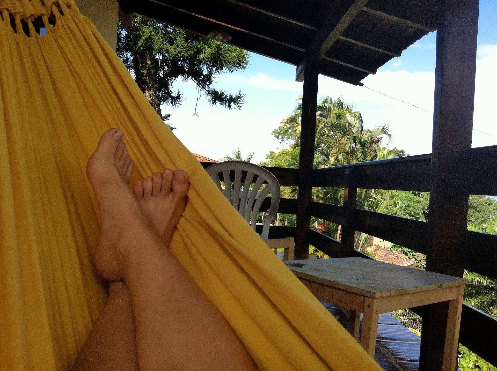 Hammock Hanging on Porch